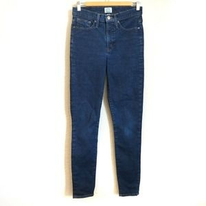 """J. Crew 9"""" High Rise Toothpick Skinny Jeans 28T"""